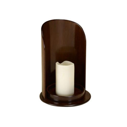 Mahogany Candleholder with Candle