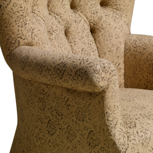 Tufted Chair Large Arm Close Up