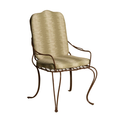 Twig Iron Dining Arm Chair Angled View