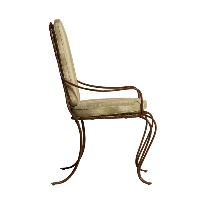 Twig Iron Dining Arm Chair Side View