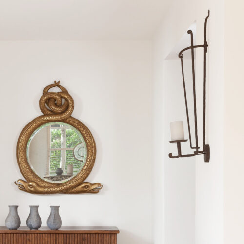 WL-921-W IRON CANDLEHOLDER SCONCE - WIRED