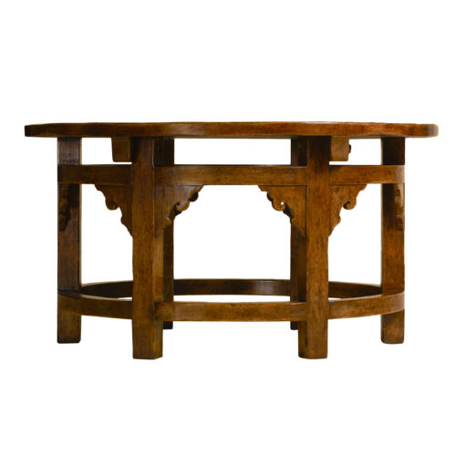Goult Oval Hall Table Side View