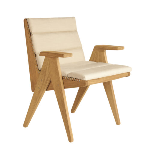 Cat's Cradle Dining Arm Chair Angle With Cushion