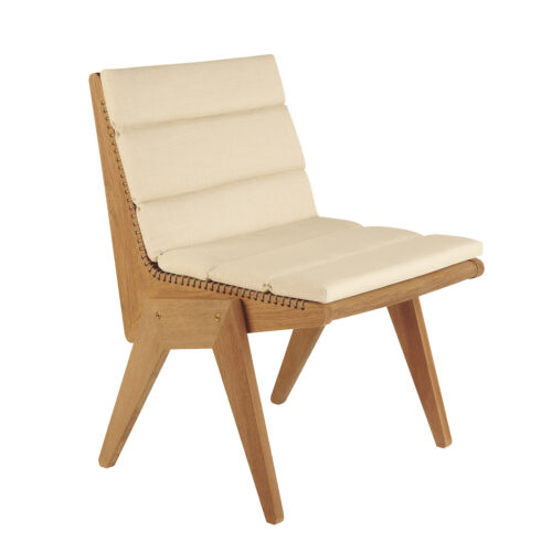 Cat's Cradle Dining Side Chair Angle With Cushion